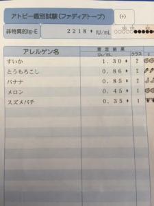 アレル検査結果20150929